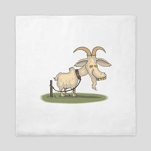 Cartoon Funny Old Goat Queen Duvet