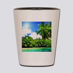 Tropical Paradise Shot Glass