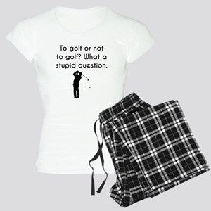 To Golf Or Not To Golf Pajamas