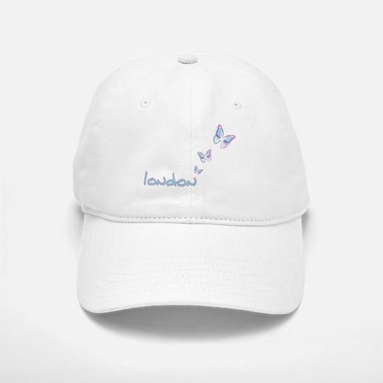 3 blue butterflies Baseball Baseball Cap