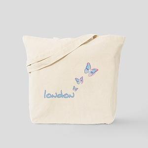 3 blue butterflies Tote Bag