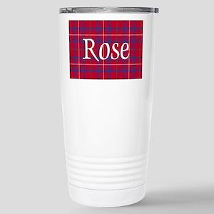 Tartan - Rose Stainless Steel Travel Mug
