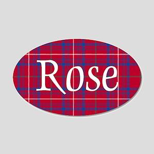 Tartan - Rose 20x12 Oval Wall Decal