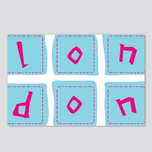 6 london blocks Postcards (Package of 8)