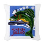 USS JALLAO Woven Throw Pillow