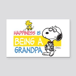 Happiness Is Being A Grandpa Rectangle Car Magnet