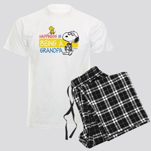 Happiness is being a Grandpa Men's Light Pajamas