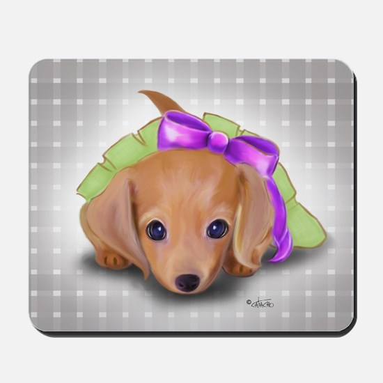ByCatiaCho Doxie Pup Mousepad