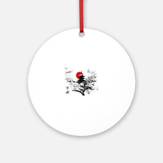 Kyoto Temple Round Ornament