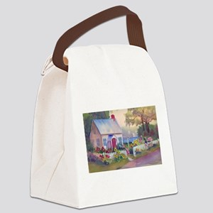 Boothbay Area Cottage Canvas Lunch Bag