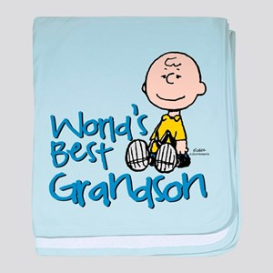 World's Best Grandson baby blanket