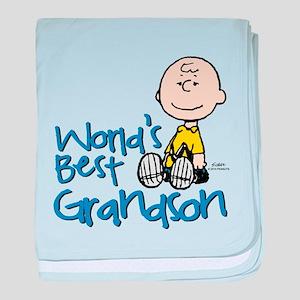 World's Best Grandson baby blanket