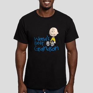 World's Best Grandson Men's Fitted T-Shirt (dark)