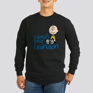 World's Best Grandson Long Sleeve Dark T-Shirt