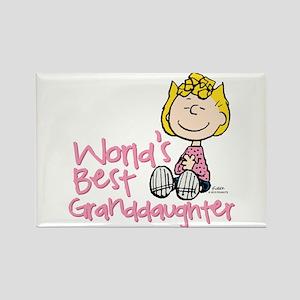 World's Best Granddaughter Rectangle Magnet