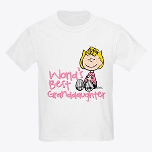 World's Best Granddaughter Kids Light T-Shirt
