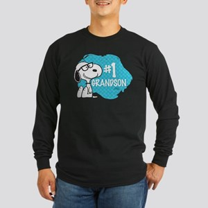 Number One Grandson Long Sleeve Dark T-Shirt
