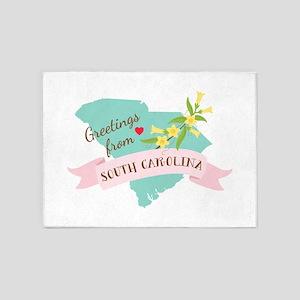 South Caroline State Outline Yellow Jessamine Flow