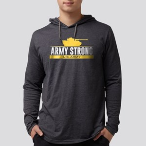 Army Strong Mens Hooded Shirt