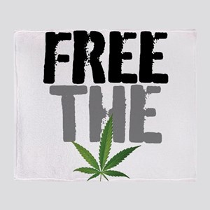 Free The Weed Throw Blanket