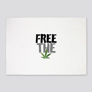 Free The Weed 5'x7'Area Rug