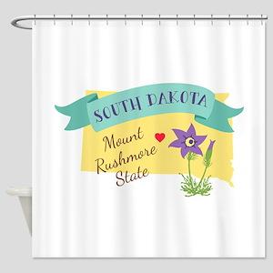 South Dakota Mount Rushmore State Outline Pasque F