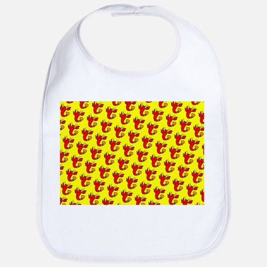 Cute Cheeky Lobster Red Yellow for Kirk Bib