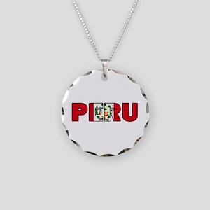 Peru Necklace Circle Charm