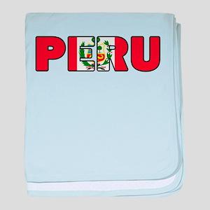 Peru baby blanket