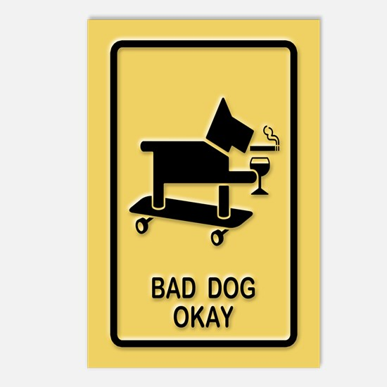 Bad Dog Okay Postcards (Package of 8)