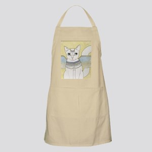 White Cat art Apron
