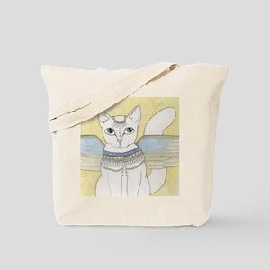 White Cat art Tote Bag