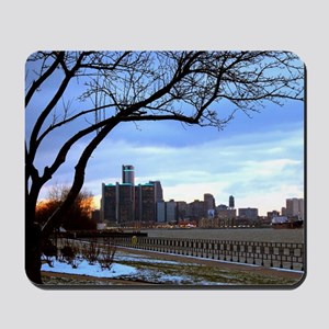 Detroit Skyline at sundown Mousepad