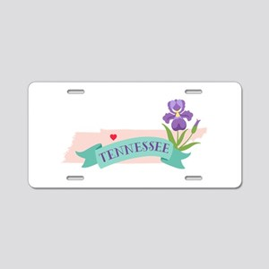 Tennessee State Outline Iris Flower Aluminum Licen