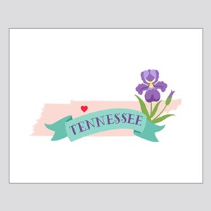 Tennessee State Outline Iris Flower Posters