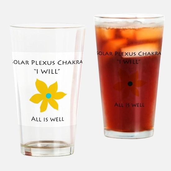 solar plexus chakra Drinking Glass