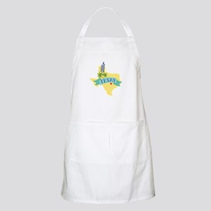 Texas State Outline Bluebonnet Flower Apron