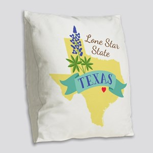 Texas Lone Star State Outline Bluebonnet Flower Bu