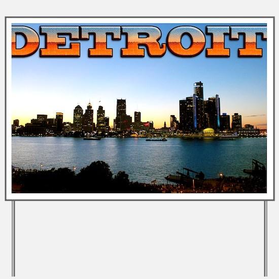 Detroit City Yard Sign