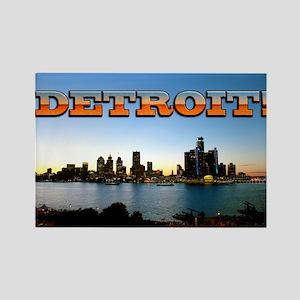 Detroit City Rectangle Magnet