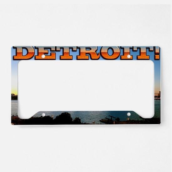 Detroit City License Plate Holder