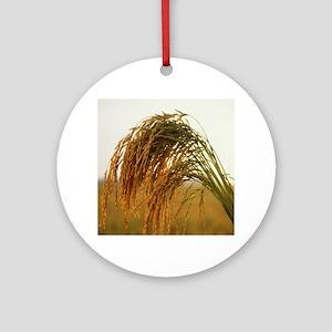 Long Grain Rice Ornament (Round)