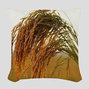 Long Grain Rice Woven Throw Pillow