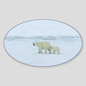 Polar Bear and Cub Sticker
