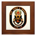USS JOHN A. MOORE Framed Tile