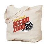 Action Zone Logo White Tote Bag