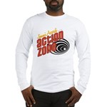 Action Zone Logo White Long Sleeve T-Shirt