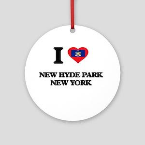 I love New Hyde Park New York Ornament (Round)