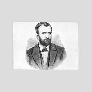 Ulysses S. Grant Illustrative Portr 5'x7'Area Rug