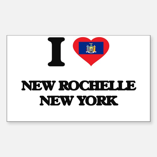 I love New Rochelle New York Decal